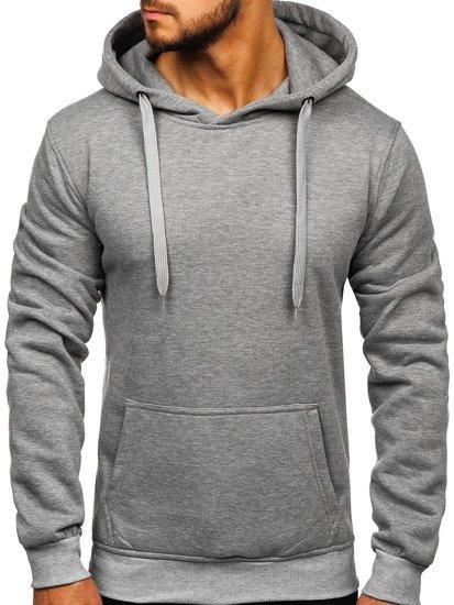 Bluza męska z kapturem szara kangurka Denley 2009