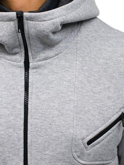 Bluza męska z kapturem szaro-czarna Denley PIERRE