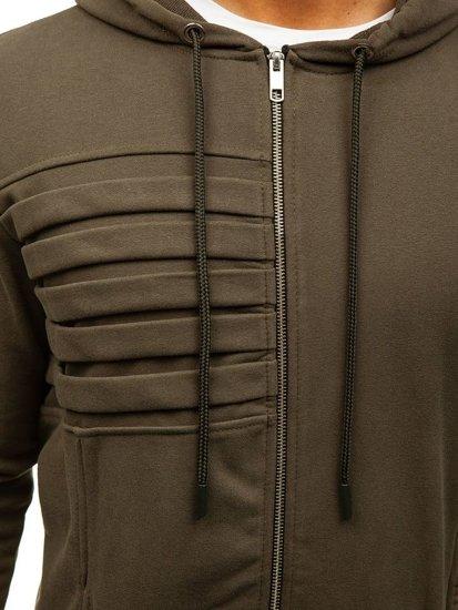 Bluza męska z kapturem zielona Denley 9095