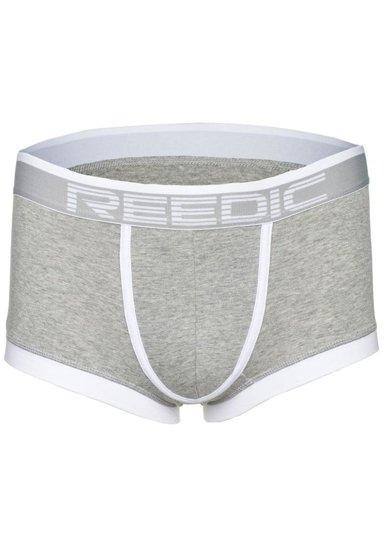 Bokserki męskie szaro-białe Denley G510