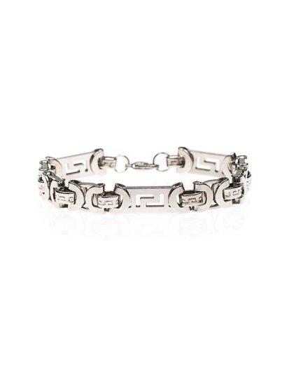 Bransoletka męska płaska srebrna Denley B089
