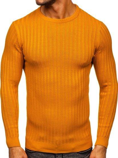 Camelowy sweter męski Denley 4603