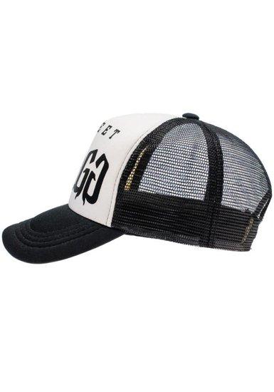 Czapka z daszkiem czarno-biała Denley 42