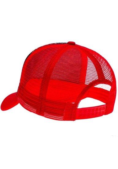 Czapka z daszkiem czerwona Denley 35