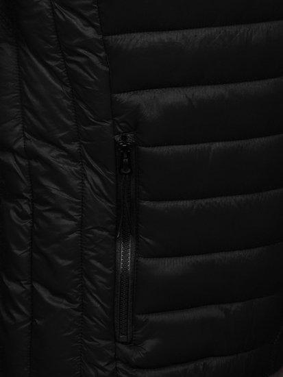 Czarna pikowana kamizelka męska Denley HDL88001