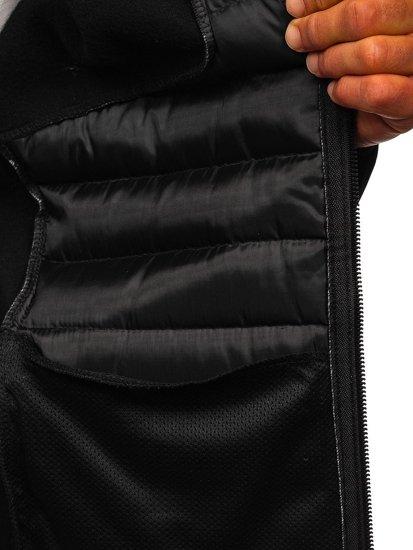 Czarna przejściowa kurtka męska Denley KS2143