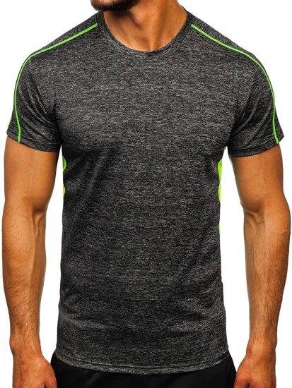 Czarny T-shirt treningowy męski Denley KS2100