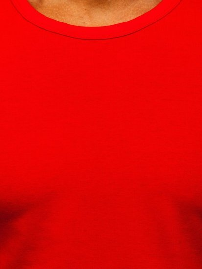 Czerwona koszulka tank top bez nadruku Denley 99001