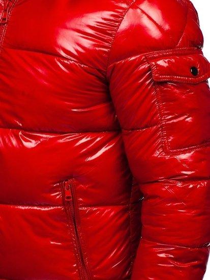 Czerwona pikowana zimowa kurtka męska sportowa Denley 974