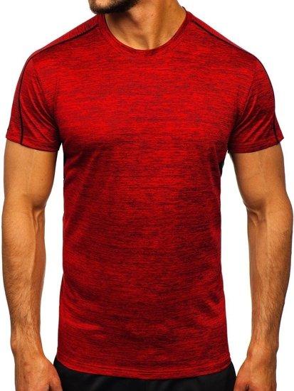 Czerwony T-shirt treningowy męski Denley KS2100