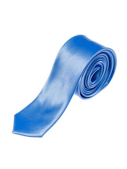 Elegancki krawat męski błękitny Denley K001
