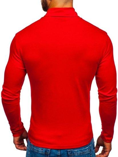 Golf męski bez nadruku czerwony Denley 145347