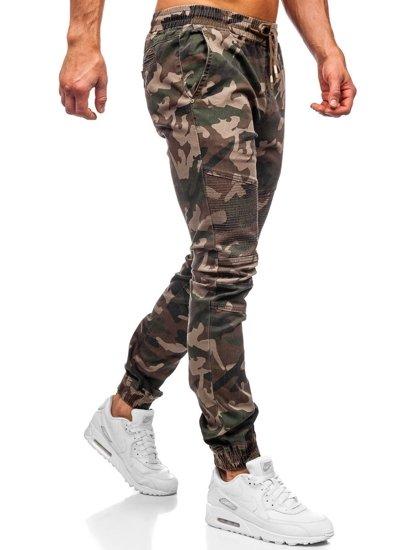 Khaki spodnie joggery moro męskie Denley RB8213XT