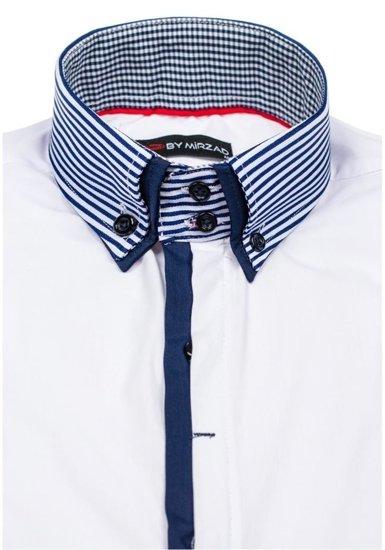 Koszula męska z długim rękawem biała Denley 5727