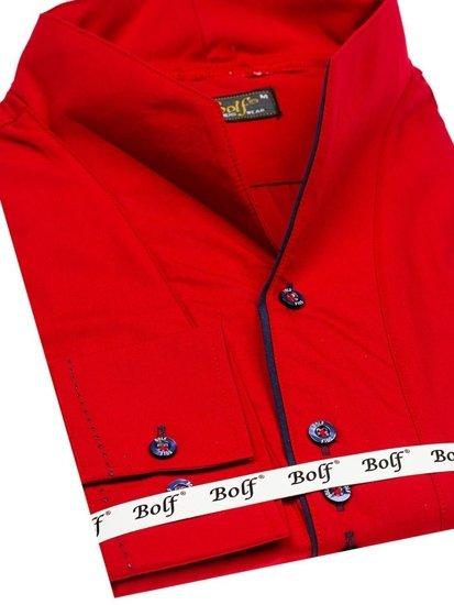 Koszula męska z długim rękawem czerwona Bolf 5720