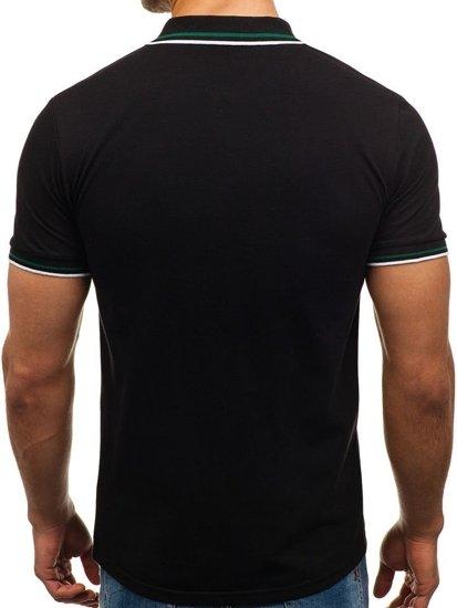 Koszulka polo męska czarna Denley 0605