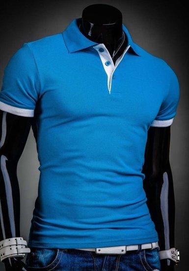 Koszulka polo męska turkusowa Bolf 171222A