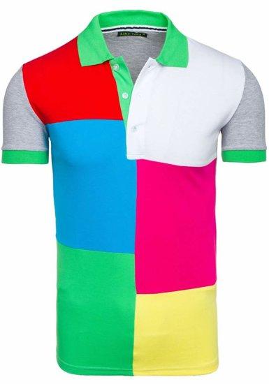 Koszulka polo męska zielona Denley 4037