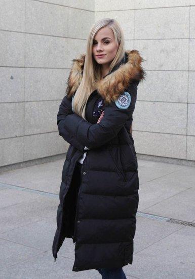 Kurtka damska zimowa czarna Denley 8067