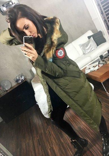 Kurtka damska zimowa khaki Denley 8067