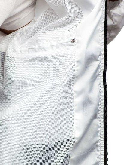 Kurtka męska przejściowa biała-granatowa Denley 5720