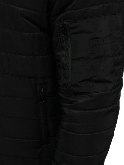 Kurtka męska przejściowa bomberka czarna Denley AK84