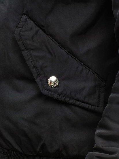 Kurtka męska przejściowa bomberka czarna Denley N712