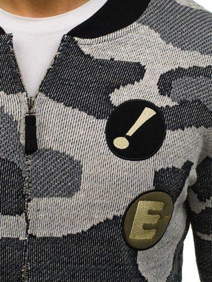 Kurtka męska przejściowa bomberka moro-szara Denley 0894