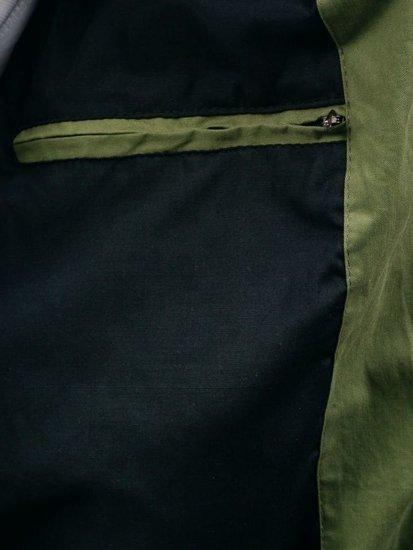 Kurtka męska przejściowa bomberka zielona Denley 4497