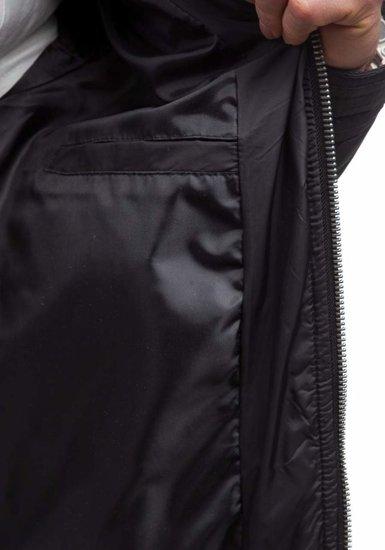 Kurtka męska przejściowa czarna Denley 1078