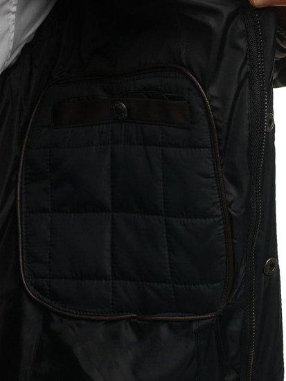 Kurtka męska przejściowa czarna Denley 7668
