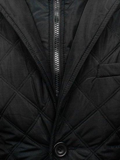 Kurtka męska przejściowa elegancka czarna Denley 3111