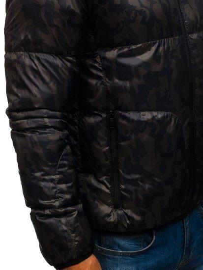 Kurtka męska przejściowa moro-khaki Denley 3146