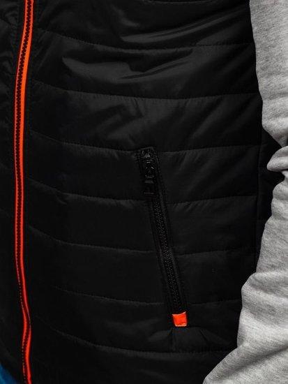 Kurtka męska przejściowa sportowa szara Denley KS1888