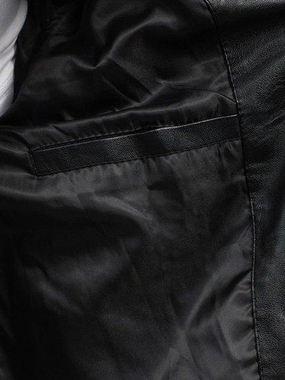 Kurtka męska skórzana czarna Denley 9136
