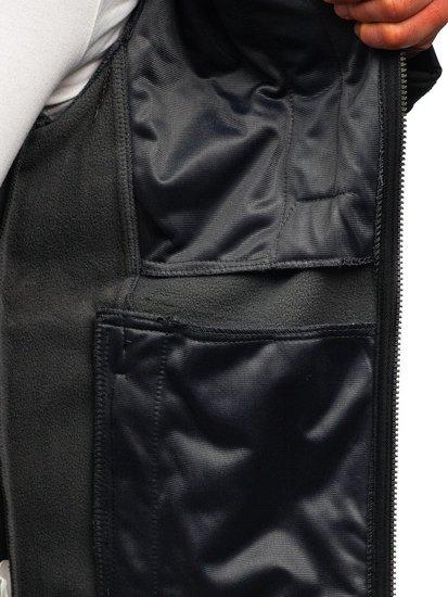 Kurtka męska softshell czarna Denley 004a