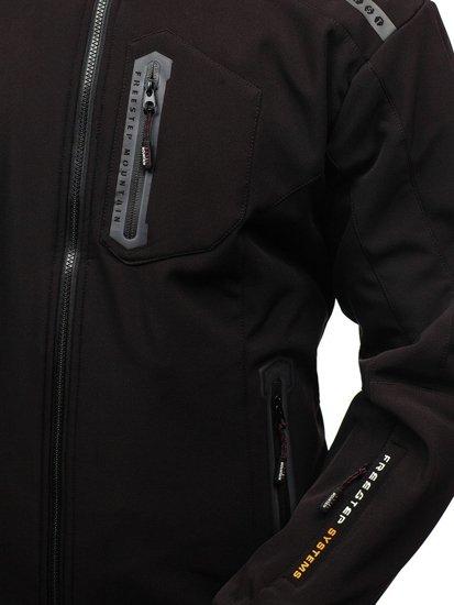 Kurtka męska softshell czarno-pomarańczowa Denley A5526