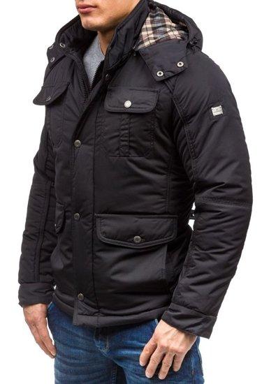 Kurtka męska zimowa czarna Denley 1350