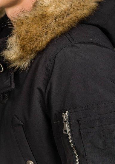 Kurtka męska zimowa czarna Denley 3093