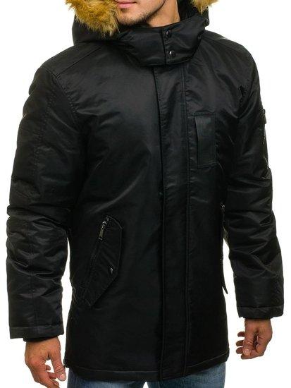 Kurtka męska zimowa czarna Denley 3097