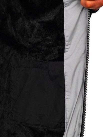 Kurtka męska zimowa czarna Denley 5808