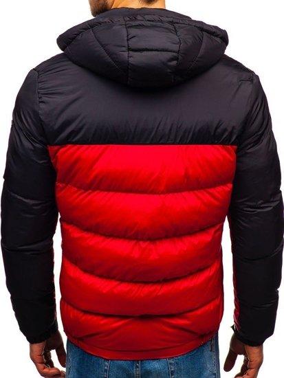Kurtka męska zimowa czerwona Denley A429