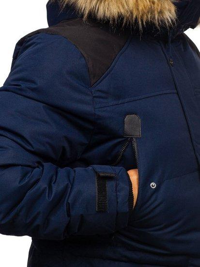 Kurtka męska zimowa granatowa Denley 5948