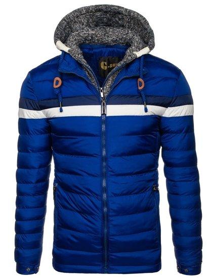 Kurtka męska zimowa niebieska Denley A181