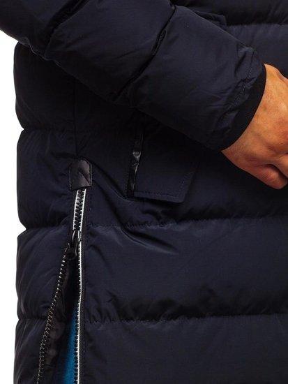 Kurtka męska zimowa parka granatowa Denley 5981