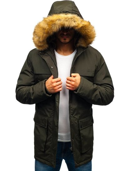 Kurtka męska zimowa parka khaki Denley R105