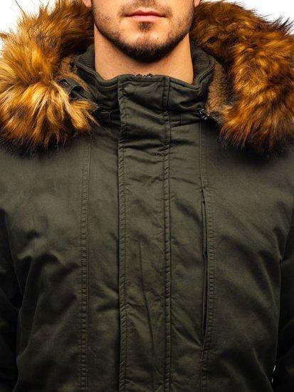 Kurtka męska zimowa parka khaki Denley R109