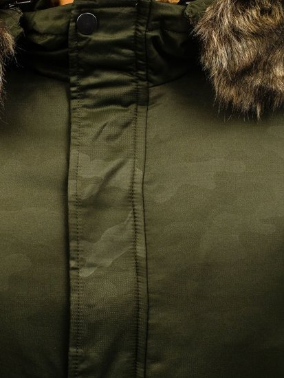 Kurtka męska zimowa parka zielona Denley R52