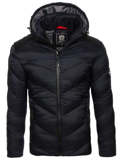 Kurtka męska zimowa sportowa czarna Denley AB100