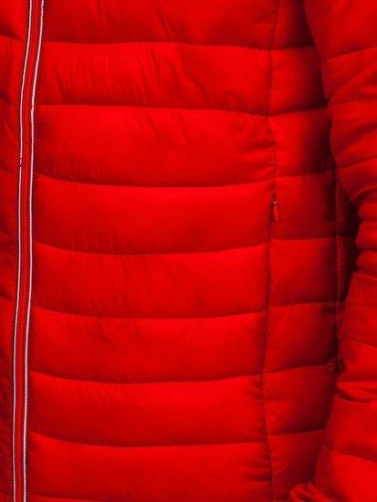 Kurtka męska zimowa sportowa czerwona Denley LY1017